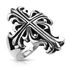 Stainless Steel Celtic Cross Wide Casted Men's Ring Wedding Band Size 7 to 13