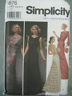 RETRO VINT 75TH ANNIVERSARY GOWN DRESS SIMP SEWING PATTERN 5876