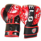 VELO Rex Leather Boxing Gloves Punch Bag Fight MMA Muay Thai Grappling Pads RDB