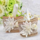 50PCS Lace Burlap Candy Favor Boxes Wedding Party Birthday Gift Box Flower Linen