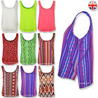 WOMENS LADIES PLAIN SLEEVELESS STRAPPY SWING VEST CAMI CHIFFON TANK TOP TSHIRT