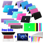 "4in1 Rubberized Case Keyboard Cover Accessory for MacBook Air Pro 11""13""15"" inch"