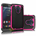 ARMOR SHOCKPROOF RUBBER HARD CASE COVER FOR MOTOROLA DROID TURBO XT1254 VERIZON
