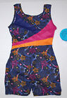 NWT New Jacques Moret Star Brights Biketard Silky Colors Glitter Nice Cute Girl