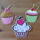 1 - Iron on Patch - Cup Cakes - different Styles -  Kids - Sewing - Applique