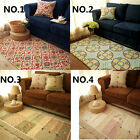 Country Floral Rose Cotton Quilted Living Bedroom Floor Mat Rug Runner Carpet