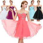 2015 Strapless Evening Gown Graduation Cocktail Bridesmaid Short Mini Prom Dress