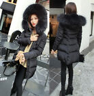 Luxurious Women Lady Winter Warm Thick Real  Fur Good Parka Coat