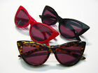 LUCINDA Big Pointy Cat Eye Sun Reader Tortoise Black Red Sexy Pin Up Sunglasses