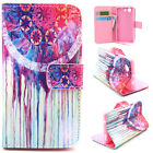 Paint wallet Card Holder Leather Case Stand Cover for Various phone YH