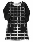 NWT Gymboree Girls Polar Pink  Dots and Dashes Black and White Dress 4 5 6