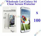 For Galaxy S4 Screen Protector Clear Wholesale Lot Retail Packaging 3X 10X 20X