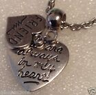 Charm necklace European Clipon  Keyring in my heart Friend memorial loss CN116