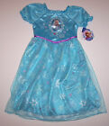 Nwt New Disney Princess Frozen Elsa Nightgown Pajamas Costume Snowflakes Girl