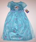 Nwt New Disney Princess Frozen Elsa Nightgown Pajamas Costume Blue Dress Girl