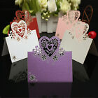 NEW 12 Pcs Love Heart Cut-out Table Name Place Cards Wedding Party Decor Favor