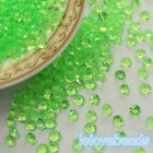 4.5mm Spring Green Acrylic Diamond Confetti Wedding Table Scatters