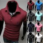 Men's Slim Fitted Stylish Polo Shirts Short Sleeve Casual T-shirts Tee Tops New
