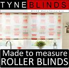 ROLLER BLINDS - straight edge -  TIME FOR TEA RED made to your exact size.