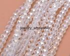 50pcs AB Chinese Crystal Glass Loose Beads Faceted Round 6x8mm Multiple Colors