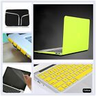 "5item Lemon Yellow Rubberized Hard Case Cover for Macbook Air Pro 11"" 13 15""inch"
