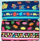 # Too Cute Blossom Blue Tropical Fish Or Jelly Bean Quilted Trifold Wallet nwt