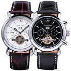 KS Luxury Tourbillon Automatic Mechanical Mens Date Sport Wrist Watch