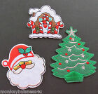 Iron on Patch - Christmas - Gingerbread House/Santa/Christmas Tree - Applique