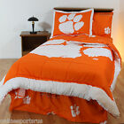 Clemson Tigers Comforter Sham and Valance Twin Full Queen King Size
