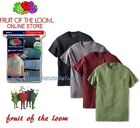 Fruit of the Loom® Men's 100% Cotton Pocket Tees - Assorted Colors 4-Pack