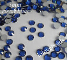 5mm Royal Blue Flatback Resin Rhinestone 14 Facets SS20 Nail Art Craft DIY