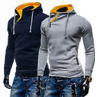 Mens Casual Warm Hoodie Hooded Sweatshirt Jumper Coats Jackets Outwear Tops XS~L