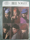 VOGUE Vintage Retro Hat Millinery History Costume SEWING PATTERN 7657