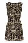 New Mela Womens Ladies Printed Zip Dress Size 8 10 12 14 16