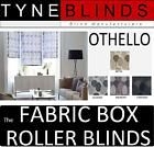 The FABRIC BOX - OTHELLO made to measure ROLLER BLINDS - straight edge patterned