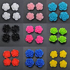 10/20pcs Gorgeous Rose Flower Coral Resin Spacer Beads 10/12/ 15mm to Choose