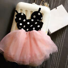 1Pcs Minnie Mouse Baby Kid Girls Princess Clothes Cartoon Party Skirt Dress Win