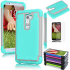 Film+ Hybrid Protective Rugged Rubber Matte Hard Case Cover For LG G2 / G3 / G4