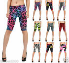 New Ladies Womens Cycling Shorts Printed 1/2 Length Stretchy Trousers Leggings