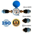 Water meter for: Domestic, Garden, Agriculture with MDPE ( Alkathene ) fittings
