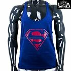 MENS SUPERMAN ARCTIC RACERBACK STRINGER SINGLET GYM bodybuilding muscle top