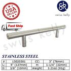 25 Pack New Solid Stainless Steel T Bar Pull Handles Cabinet Door Kitchen Drawer