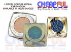 L'Oreal Color Appeal Chrome Shine Eyeshadow- Available in Multi Shades