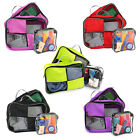 3x Clothes Sock Luggage Packing Cubes Suitcase Organiser Travel Tidy Storage Bag