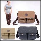 Men's Vintage Canvas Satchel School Military Shoulder Bag Messenger Bag WWU