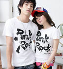Lovers T-shirt (8 Colors) PUNK ROCK Lycra Cotton Men Women Couple Summer LWC1005