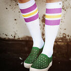 Oldschoolsocks by Spirit of 76 | the purple Sunnys on white Hi | Skatersocken