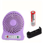 Mini Palm Cooling Fan Portable 18650 Rechargeable Summer Cooler Air Conditioner