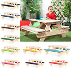 Children's Kids Outdoor Furniture Wood Play Picnic Table Bench Set Garden Patio