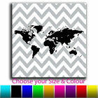 Maps - Abstract Chevron Map Canvas Art Print Box Framed Picture 6